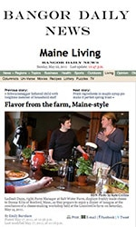 Bangor Daily News - Flavor from the Farm, Maine Style